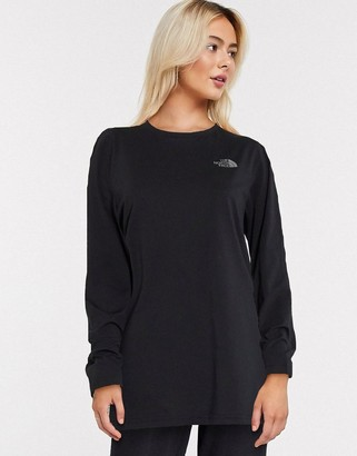 The North Face Easy long sleeve t-shirt in black