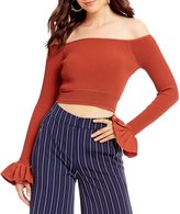 Gianni Bini Fan Fav Madelyn Off the Shoulder Crop Top