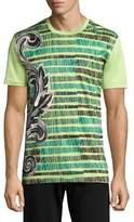 Versace Sketched Baroq Cotton T-Shirt