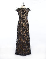 Tadashi Shoji Sleeveless Sequin and Lace Gown