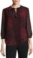 Liz Claiborne Long Sleeve Woven Blouse-Talls