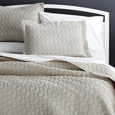 Crate & Barrel Elize Natural Quilts and Pillow Shams