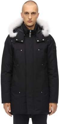 Moose Knuckles Stirling Cordura Down Parka W/ Fur