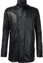 Julius zip up leather jacket - men - Cotton/Lamb Skin/Cupro - 2
