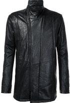 Julius zip up leather jacket - men - Cupro/Cotton/Lamb Skin - 2