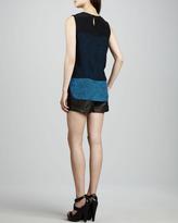 Tibi Leather Trouser-Cut Shorts