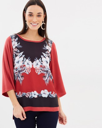 Oasis Havana Placement Woven Front Top
