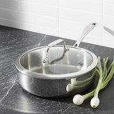 Crate & Barrel ZWILLING ® J.A. Henckels VistaClad Stainless Steel 3-qt. Sauté Pan with Lid