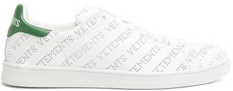 Vetements Low-top Perforated-leather Trainers - Womens - Green White
