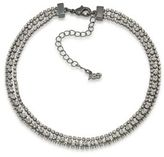 ABS by Allen Schwartz All Choked Up Three-Row Crystal Choker