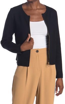 T Tahari Knit Zip Front Cardigan