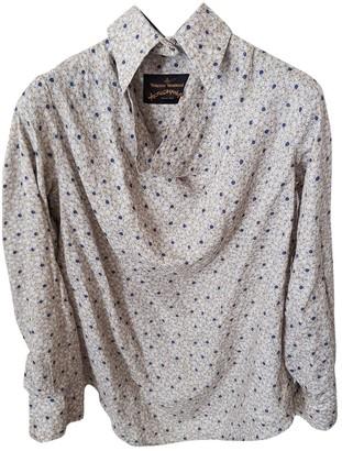 Vivienne Westwood Grey Linen Top for Women