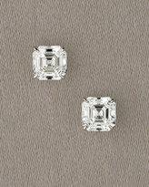 Royal Asscher Cut Martini Diamond Stud Earrings, 0.52 carats