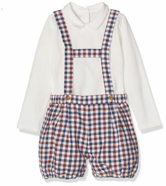 Chicco Baby Boys' Completo Body Con Salopette Corta Clothing Set