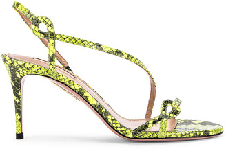 Aquazzura Serpentine 75 Sandal in Acid Green | FWRD