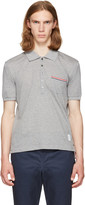 Thom Browne Grey Pocket Polo