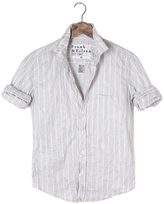 Frank And Eileen Womens Barry Wide Stripe Italian Twill Shirt