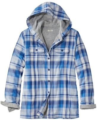 L.L. Bean Women's Fleece-Lined Flannel Hoodie, Plaid