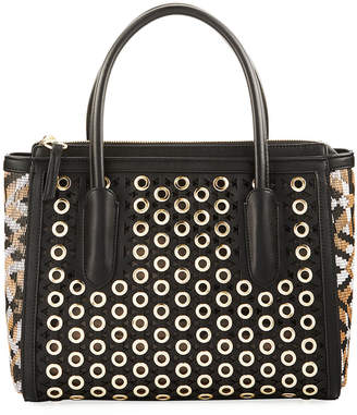 Sam Edelman Ashton Grommets Vegan Satchel Bag