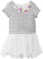 Baby Sara Short Sleeve Drop Waist Hankie Mesh Bottom Dress (Toddler Girls)