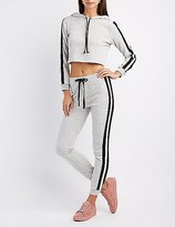 Charlotte Russe Varsity Stripe Jogger Pants