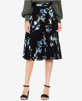 Vince Camuto Pleated Floral-Print Skirt