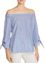 Bardot Off-the-Shoulder Stripe Shirt