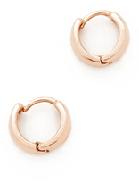 Adina 14k Gold Wide Huggie Hoop Earrings
