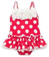 Little Me Baby Girl's One-Piece Polka Dot and Stripe Swimsuit
