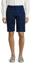 Brooks Brothers Embroidered Boat Bermuda Shorts