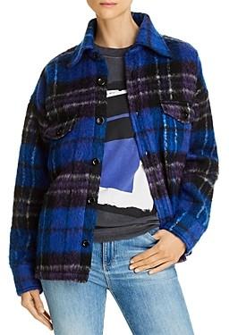 Anine Bing Samone Plaid Jacket