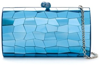 Serpui Marie Metallic Clutch