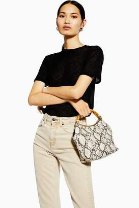 Topshop Black Plain Mesh T-Shirt