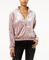 Hippie Rose Juniors' Velvet Bomber Jacket