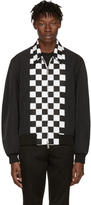 DSQUARED2 Black Checkerboard Bomber Jacket