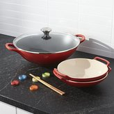 Crate & Barrel Le Creuset ® Cerise Wok Set