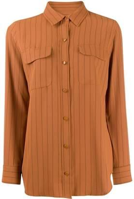 Equipment stripe detail blouse