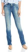 Mavi Jeans Women's Leigh Mid Rise Slim Bootcut in Shaded Nolita Shaded Nolita Jeans 26 X 32