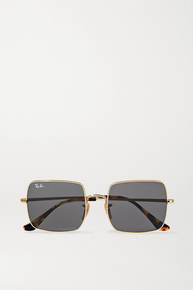 Ray-Ban 1971 Evolve Square-frame Gold-tone And Tortoiseshell Acetate Sunglasses