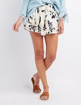 Charlotte Russe Floral Ruffle-Trim Shorts