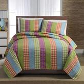 Asstd National Brand Bright Plaid Striped Quilt Set