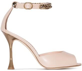 Manolo Blahnik Fombra patent-leather sandals