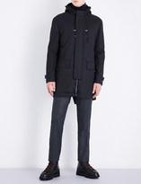 Corneliani Technical hooded wool-blend coat
