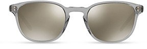 Oliver Peoples Women's Fairmont Round Mirrored Sunglasses, 49mm