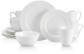 Mikasa Trellis White 16-Piece Dinnerware Set