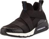 Ash Matrix Leather Sneaker, Black