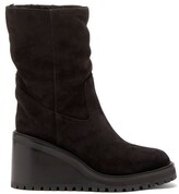 Thumbnail for your product : Jimmy Choo Yola 80 Suede Boots - Black