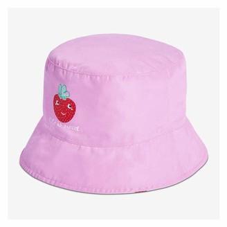 Joe Fresh Toddler Girls' Reversible Bucket Hat, Light Pink (Size 4-5)