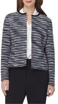 Tahari by Arthur S. Levine Striped Cotton Jacquard Jacket.