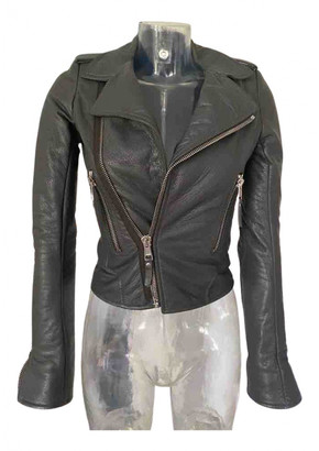 Balenciaga Grey Leather Jackets
